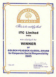 image of Golden Peacock Awards for 'Corporate Social Responsibility (Asia)