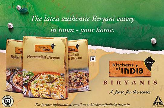 Print advertisement of kitchens of india noormahal biryani