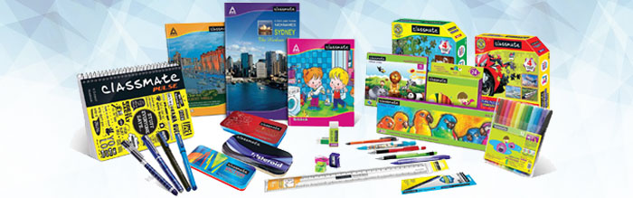 Image depicting ITC's Classmate range of education and stationery products