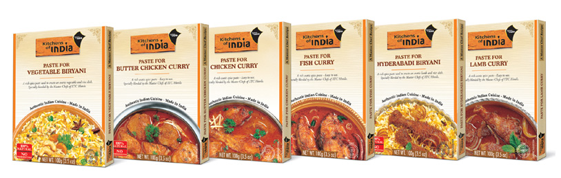 Kitchens of India Curry Paste are a selection of rich, mild spices ...