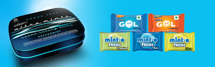Mint-o Range of Confectioneries
