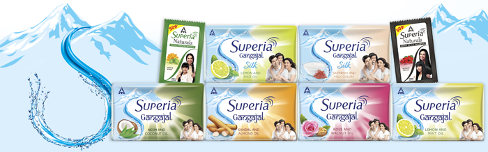 Image depicting ITC's Superia range of personal care products