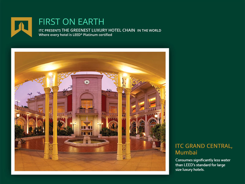 Itc hotels the greenest luxury hotel chain in the world for Luxury hotels all over the world