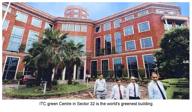 ITC green Centre in Sector 32 is the world's greenest building